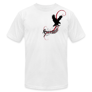 T-Shirts ~ Men's T-Shirt by American Apparel ~ Freedom (Artistic Christian Series)