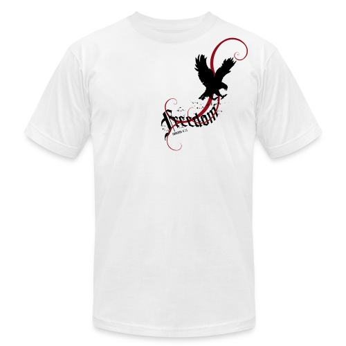 Freedom (Artistic Christian Series) - Men's T-Shirt by American Apparel