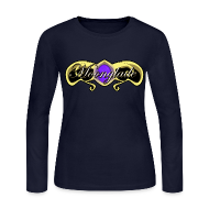 Long Sleeve Shirts ~ Women's Long Sleeve Jersey T-Shirt ~ Moonglade Swirl