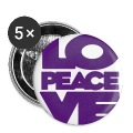 Love Peace Love Badge