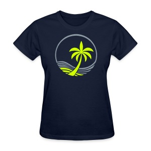 Ocean and Palm Tree - Women's Lightweight T-Shirt - Women's T-Shirt