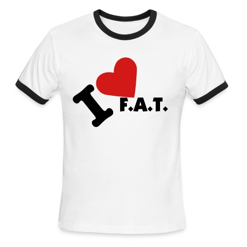 i heart f.a.t. shirt - Men's Ringer T-Shirt