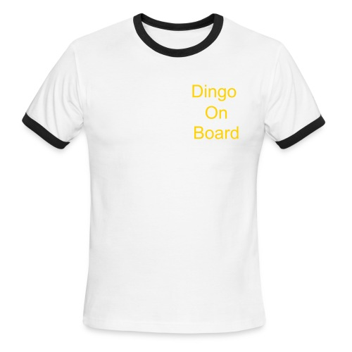 Dingo on Board - Men's Ringer T-Shirt