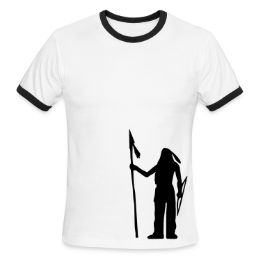 White/black Native American Indian Silhouette Men