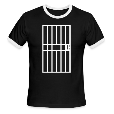 Black/white Jail cell prison bars Men