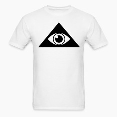 White All seeing eye pyramid Men