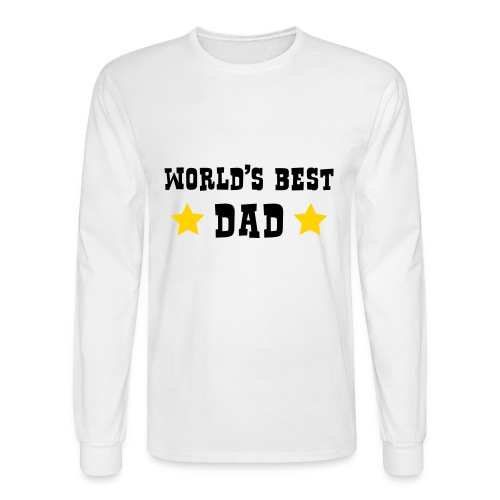 Mens Long Sleeve - Worlds Best Dad - Men's Long Sleeve T-Shirt