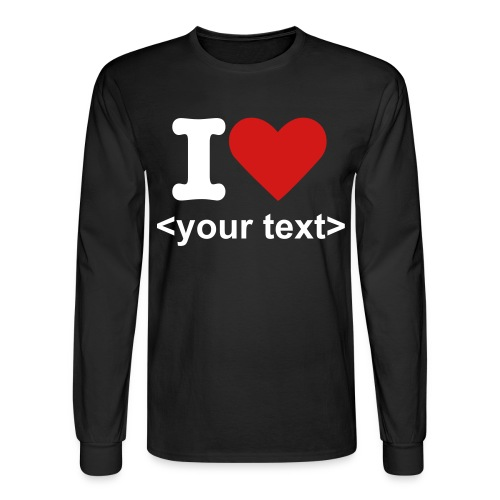 i love + your text - Men's Long Sleeve T-Shirt