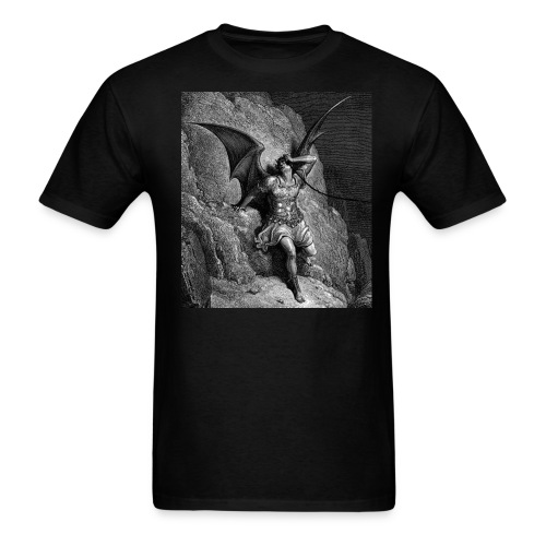 Satan on da phone - Men's T-Shirt