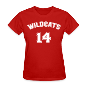 WILDCATS SCHOOL MUSICAL COSTUMES Ladies T-Shirt ~ 0