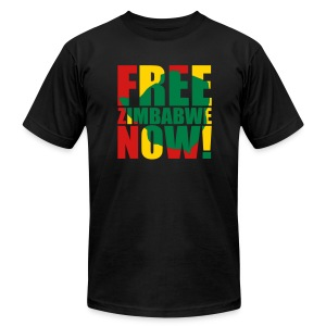 Free Zimbabwe Now! - Men's T-Shirt by American Apparel