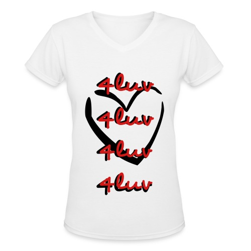 4luv Tee - Women's V-Neck T-Shirt