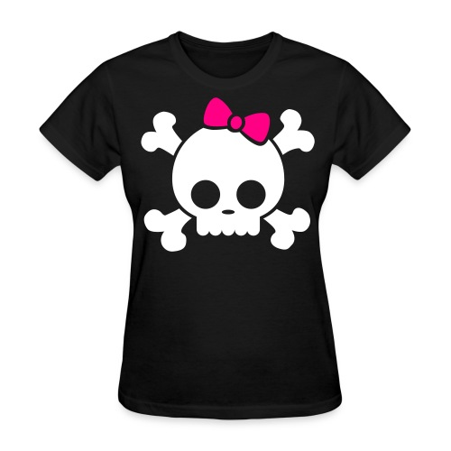 Girly Skull - Women's T-Shirt
