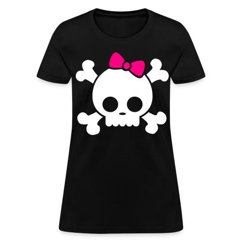 Girly Skull - Women's T-Shirt