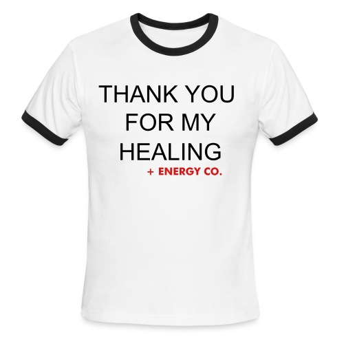 HEALTH_Thank you for my healing - Men's Ringer T-Shirt