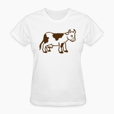 White Baby cow calf Women