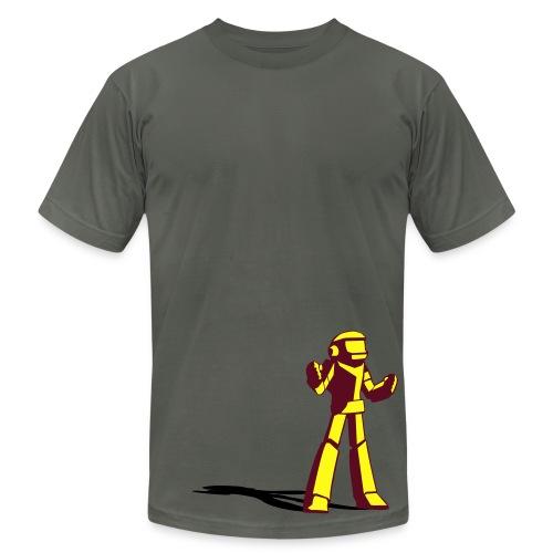 Robots Against the World. - Men's Fine Jersey T-Shirt