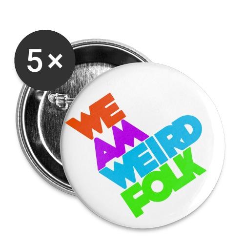 We Am Weird Folk Buttons - Buttons small 1'' (5-pack)