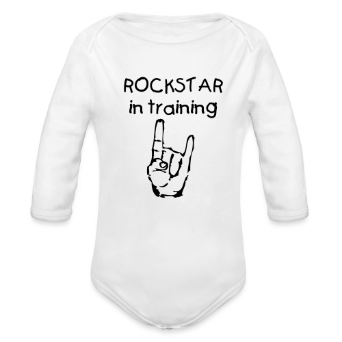 ROCKSTAR in training shirt - Organic Long Sleeve Baby Bodysuit