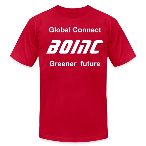 Green Connect BOINC - Men's T-Shirt by American Apparel