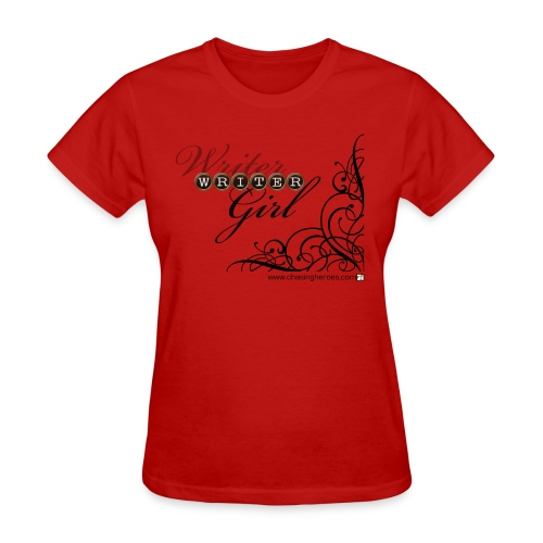 Red Writer Girl Tee - Women's T-Shirt