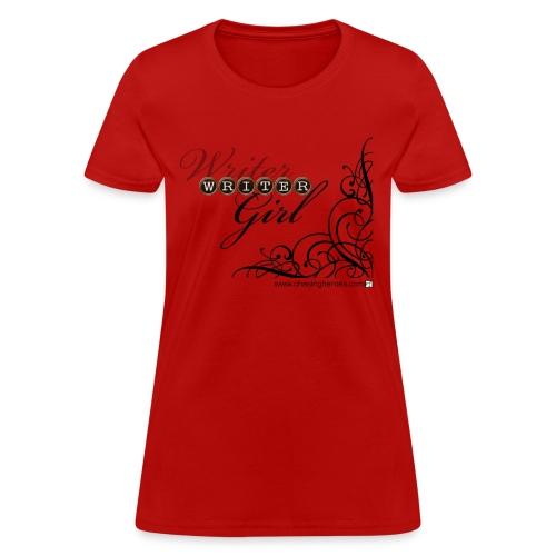 Red Writer Girl Tee - Women's T-Shirt