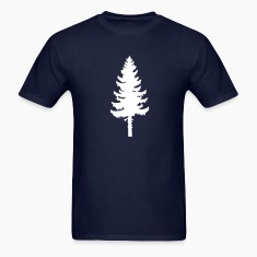 Navy tall pine green tree Men
