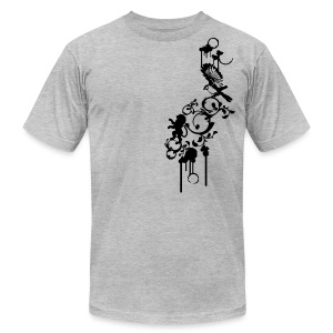 Mens American Apparel Cool Designer T-shirt - Men's Fine Jersey T-Shirt