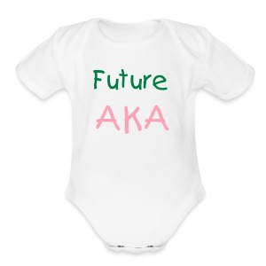 Future AKA Onies (White) - Short Sleeve Baby Bodysuit