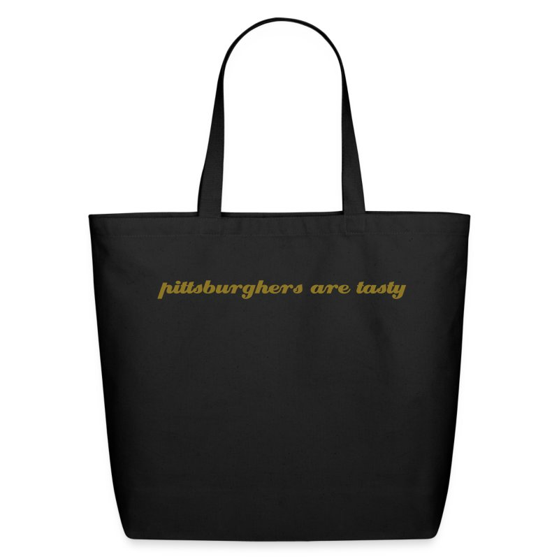 Large Tote - pittsburghers are tasty  - Eco-Friendly Cotton Tote