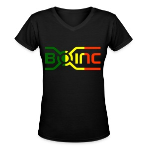 Women's Black BOINC Marley - Women's V-Neck T-Shirt