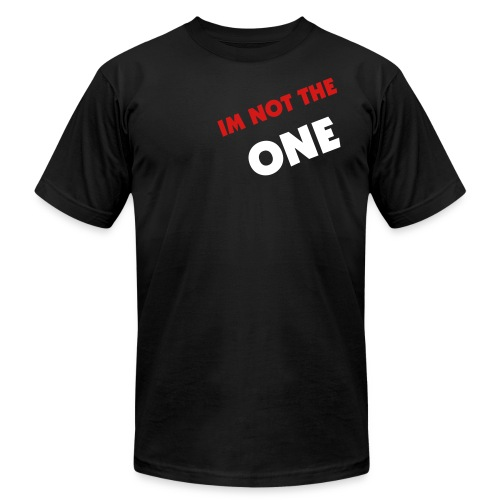 Im not the one black tee. - Men's Fine Jersey T-Shirt