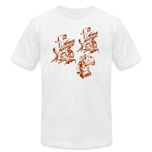 Robot Army Designer White T-shirt - Men's Fine Jersey T-Shirt
