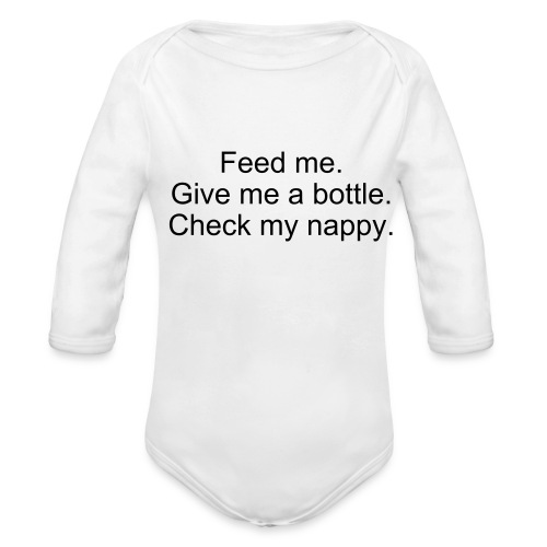 Baby's Instructions - Organic Long Sleeve Baby Bodysuit