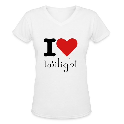 I lovvve - Women's V-Neck T-Shirt