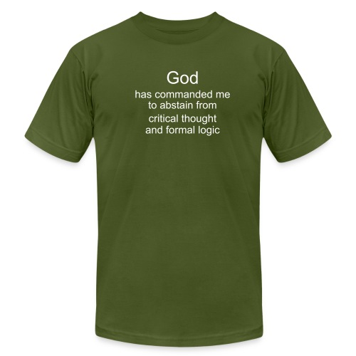 critical thought - the ultimate sin - Men's Fine Jersey T-Shirt