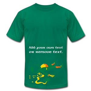 Drunk Leprechaun. - Men's T-Shirt by American Apparel