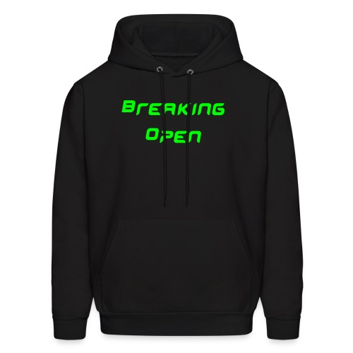 Breaking Open/Text Sleeve - Men's Hoodie