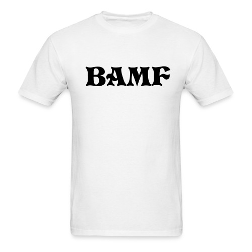 BAMF-Story Time White/Black - Men's T-Shirt