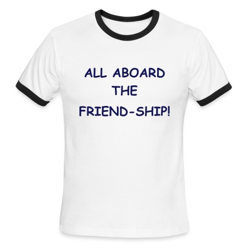 All Aboard the Friendship - Men's Ringer T-Shirt