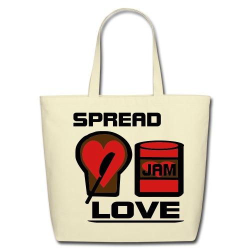 Spread Love (: - Eco-Friendly Cotton Tote