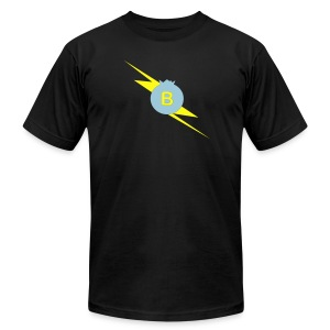 PodcastPowerBlack AA - Men's T-Shirt by American Apparel