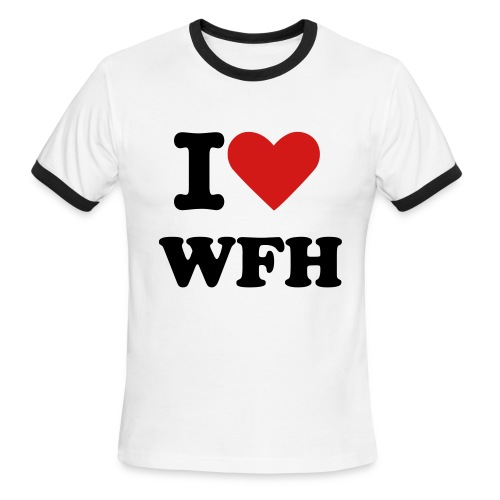 I Heart WFH  - Retro - Men's Ringer T-Shirt
