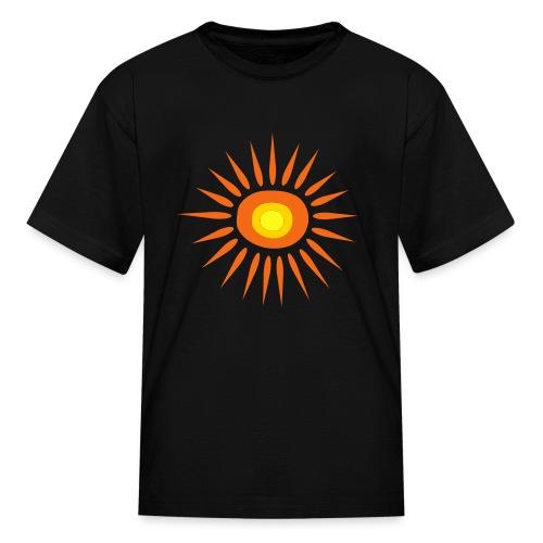 Kool Kids Tees 'Big Sun' Youth Tee, Black - Kids' T-Shirt
