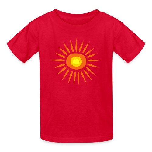 Kool Kids Tees 'Big Sun' Youth Tee, Red - Kids' T-Shirt