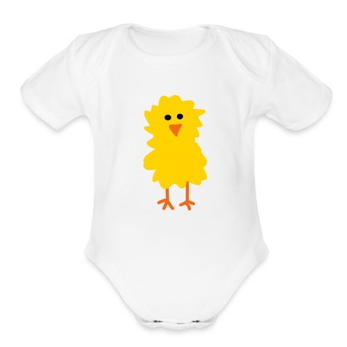 Chick One size - Organic Short Sleeve Baby Bodysuit