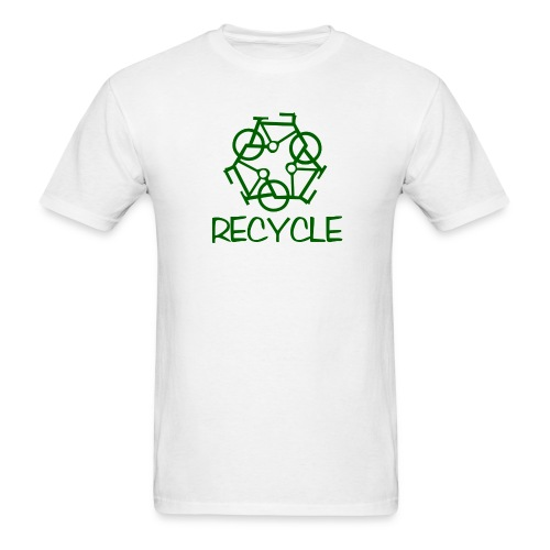 reCYCLE - no back logo - Men's T-Shirt