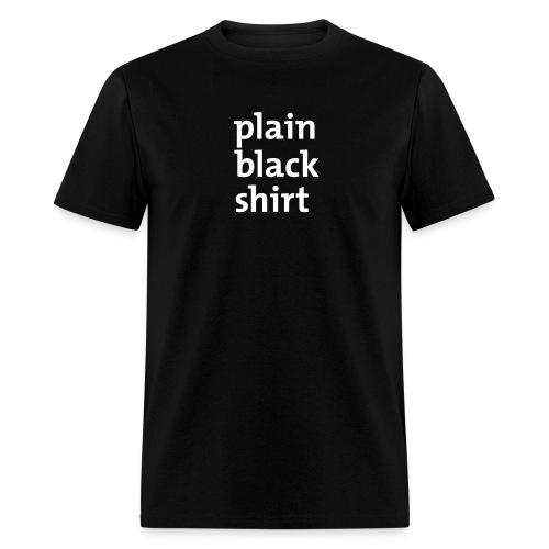 Plain Black - Men's T-Shirt