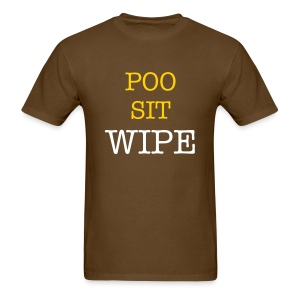 POO SIT WIPE - Men's T-Shirt