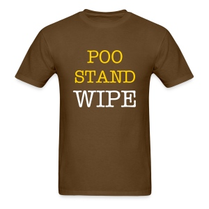 POO STAND WIPE - Men's T-Shirt